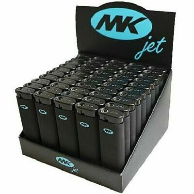 MK Black JET TORCH Lighters Windproof Refillable Lighter Neon Butane 5X 7X 11X