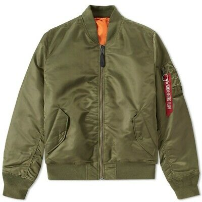 ALPHA INDUSTRIES CLASSIC Ma 1 Jacket Sage Green Cropped