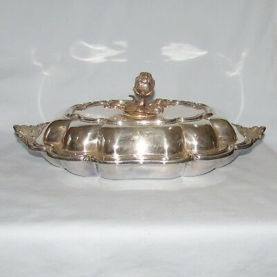 Victorian era superb quality EP silverplated tureen detachable handle
