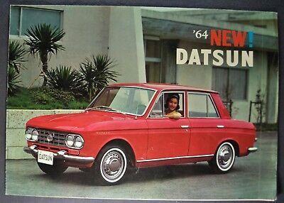 1964 Datsun Sedan Sales Brochure Folder Bluebird Nice Original 64