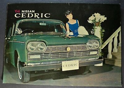 1964 Nissan Cedric Sales Brochure Folder Datsun Excellent Original 64