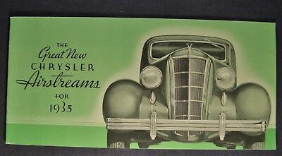 1935 Chrysler CZ Airstream Deluxe 8 Touring Sedan Factory Photo Ref. # 33121