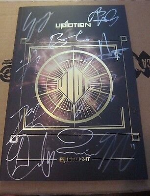 Up10Tion Spotlight Gold Ver Signed All Members Autographed Cd Album Mwave Kpop