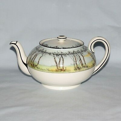 ROYAL DOULTON POLLARDS WILLOW TEAPOT and lid H2588 very scarce pattern