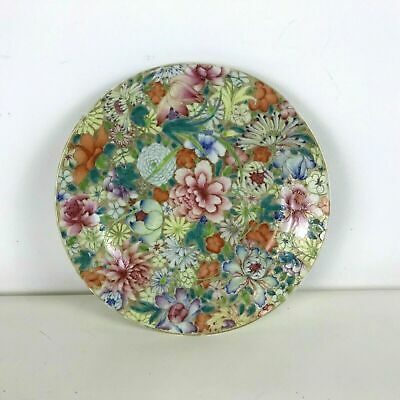 Antique Chinese Hand Painted 1000 Flowers Millefiori Plate #15