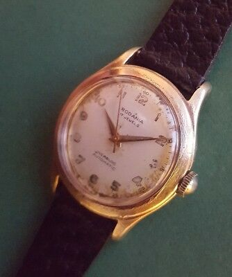 Rare Vintage 1940s Gents Automatic Swiss watch RODANIA - 17 Jewels Incabloc