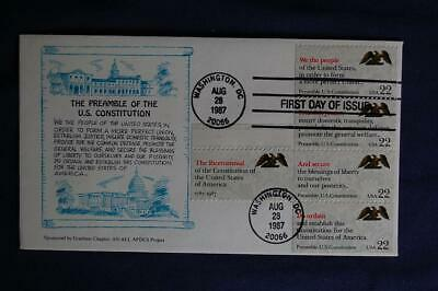 Drafting the Constitution Bicentennial Stamps FDC RC Graebner Sc#2355-59 03904