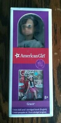 "AMERICAN GIRL Mini Doll of the Year 2015 ""GRACE THOMAS"" + Book HTF ~ NEW IN BOX!"