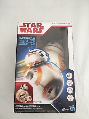 New Star Wars HYPERDRIVE BB-8 Remote Control RC Toy Hasbro Disney Used