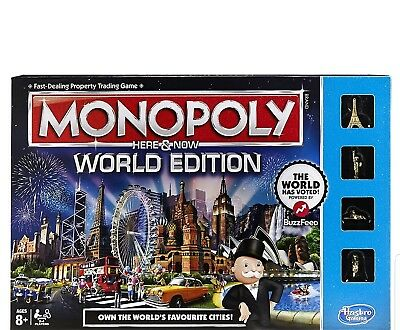 Monopoly - WORLD EDITION - Here And Now - BRAND NEW FACTORY SEALED