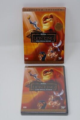 Walt Disney The Lion King (DVD, 2003, 2-Disc Set, Platinum Edition) SEALED
