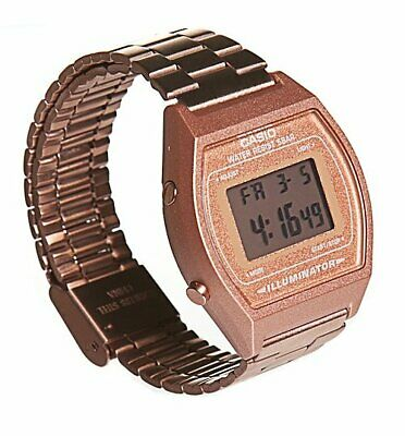 Official Rose Gold Retro Casio Illuminator Watch B640WC-5AEF from Casio