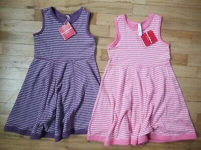 NWT HANNA ANDERSSON ONE = TWO REVERSIBLE PIMA TANK DRESS PINK PURPLE 110 5