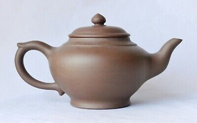 Antique Chinese Large Yixing Zisha Purple Clay Teapot - OLD MARK & FORM