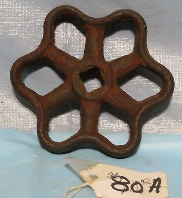 Vintage Industrial Machine Age STEEL Water Valve Handle Steampunk Altered Art