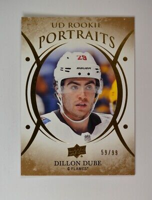 2018-19 UD Upper Deck Series 2 Rookie Portraits Gold #P-89 Dillon Dube /99