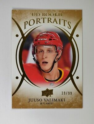 2018-19 UD Upper Deck Series 2 Rookie Portraits Gold #P-80 Juuso Valimaki /99