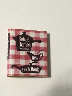 Dollhouse Miniature Better Homes And Gardens Cookbook Kitchen Book 7/8""