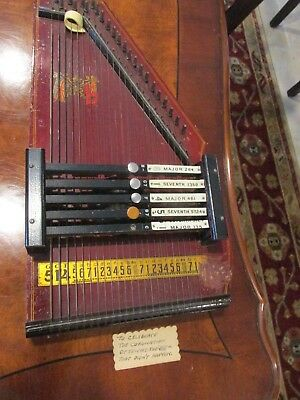 Rare Antique Lap Harp with image of Royal Flags Circa late 1800's