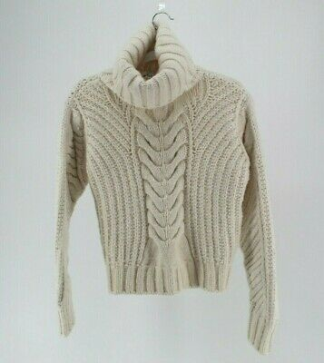 8fceecdb Tommy Hilfiger X Gigi Hadid Chunky Knit Jumper With Roll Neck Turtleneck  Cream S
