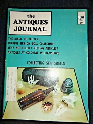 1973 Antiques Journal Russian Japanese Nesting Dolls Seashells Doll Collecting