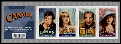 Canada 2153 MNH Canadians in Hollywood, John Candy, Mary Pickford, Lorne Greene