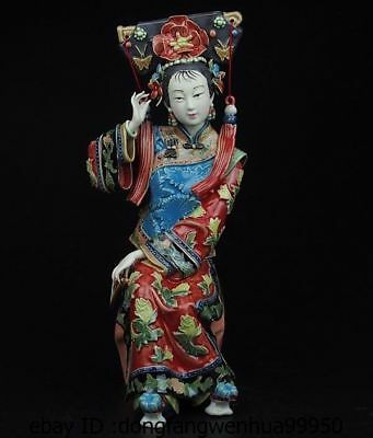 China Palace Pottery Wucai Porcelain Home Display Woman Ladies Decoration Statue