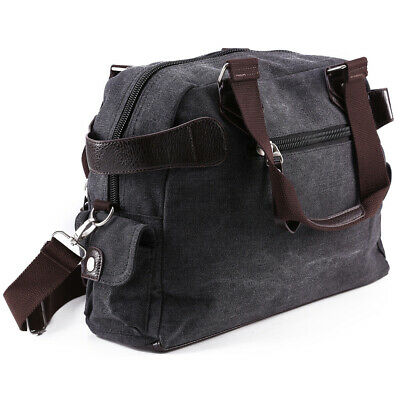 Men's Vintage Large Canvas Luggage Travel Shoulder Bag Tote Gym Overnight Duffle