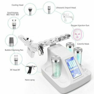 H2O2 Water Dermabrasion Oxygen Jet Hydra Face BIO RF 8 in 1 Skin Care Device !!