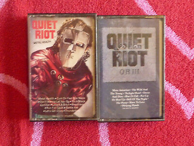 Lot of 2 QUIET RIOT Cassette Tapes Metal Health & QR III HEAVY METAL