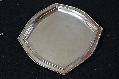Antique Sterling Silver Card Tray International Silver Co. Victorian C. 1900