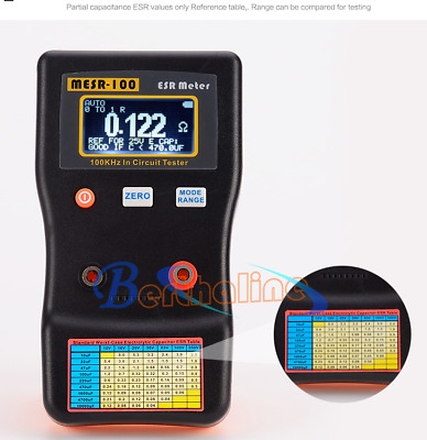 AutoRanging In Circuit ESR Capacitor Meter Tester Up to 0.001 to 100R MESR100 V2