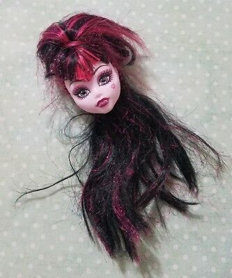 Monster High Doll Sweet 1600 Draculaura Pink Glitter Replacement Head Only Ooak