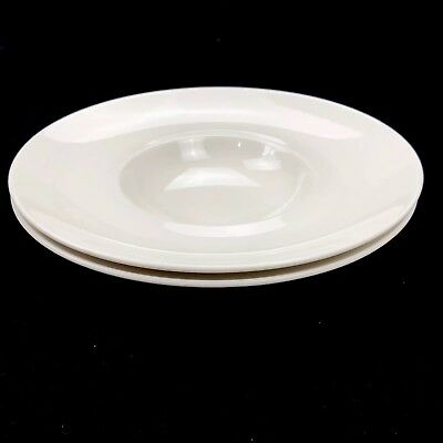 """Villeroy & Boch Fine China White Rim Bowl Set of 2 Made in Germany 11.25"""" 0181"""