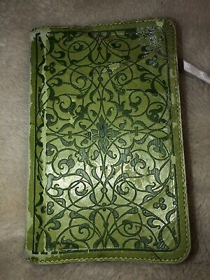 Holy Bible ESV English Standard Version Crossway Compact Green Leather Paper