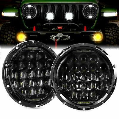 "Pair 7"" inch 5D For JEEP JK GQ PATROL Projector LED Headlight DRL Insert 160W"