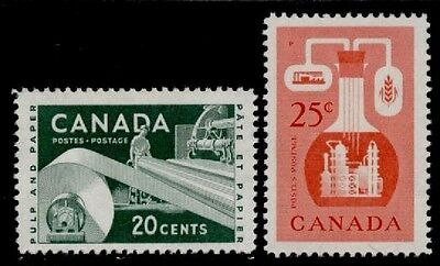 Canada 362-3 MNH Paper Industry, Checmical Industry