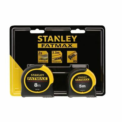 Stanley FatMax 5m & 8m Measuring Tape Twin Pack