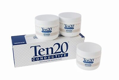 Ten20 Conductive Paste - 4 oz. (114g) Jars (3-pack) with Free Postage