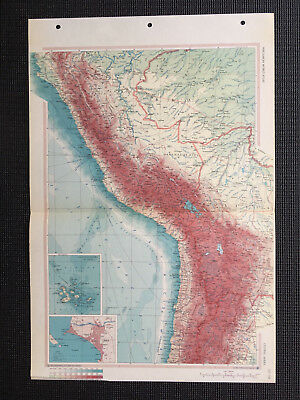 Map Of Central Andes 1967