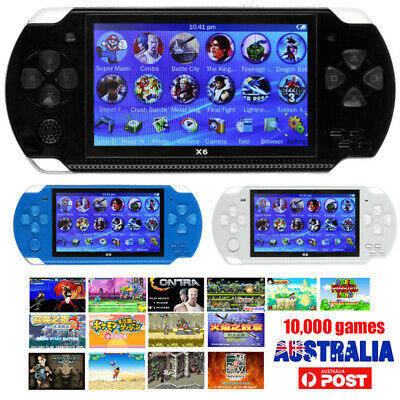 Portable Handheld Console Built-in 10000 Game Controller Video 8GB Player MP4 AU