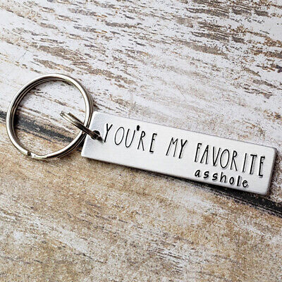 Letter You're My Favorite Keychain Gifts for Funny Boyfriend/Husband Jewelry CB