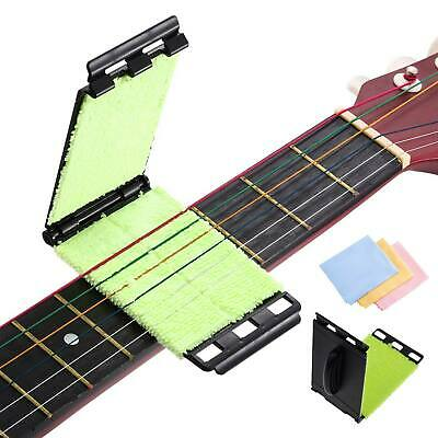 Guitar String Fretboard Cleaner Scrubber Brusher w/ 3 Microfiber Cleaning Cloth