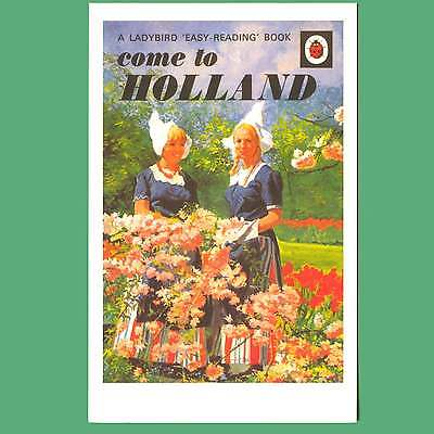 Postcard - Come To Holland - Ladybird Cover Postcard