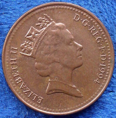 UK - 1 penny 1994 KM# 935a Elizabeth II Decimal Coinage (1971) - Edelweiss Coins