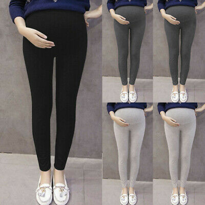 Pregnant Women's Pants Solid Color And Thin Maternity Pregnancy Trousers AU