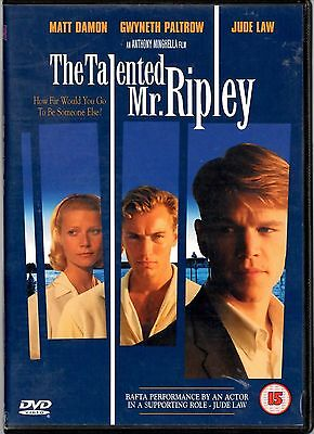 The Talented Mr Ripley - DVD -  Gwyneth Paltrow,  Matt Damon, Jude Law (DO)