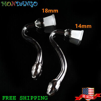 14MM 18MM Female J-hook Adapter Connector Fittings Glass Chemistry Catcher