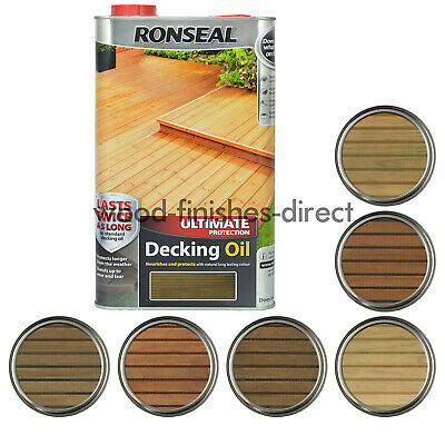 Ronseal Ultimate Protection Decking Oil 2.5 / 5 Litre  Clear Or 5 Natural Shades