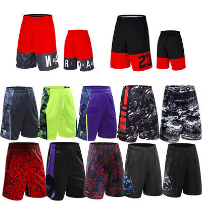 Mens Casual Sports Basketball Shorts Training Cropped Trousers Half Pants Trunk